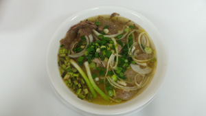 Vietnamese Beef Noodle Soup with Sliced Beef